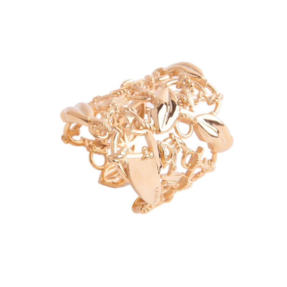 anello a fascia oro love