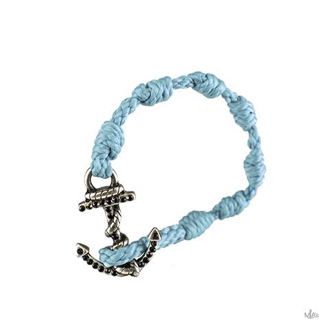 bracciale black diamonds azzurro ancora argento