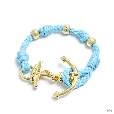 bracciale love boat azzurro ancora oro