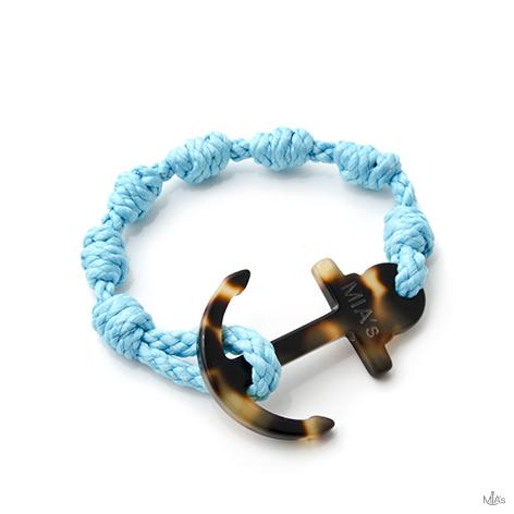 bracciale elegance azzurro ancora tortuga