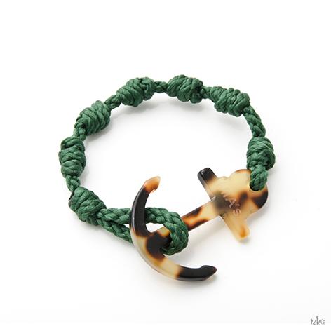 bracciale elegance verde scuro ancora tortuga