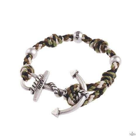 bracciale love boat camouflage ancora argento