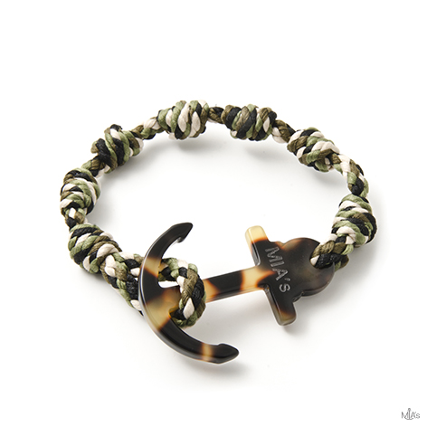 bracciale elegance camouflage ancora tortuga