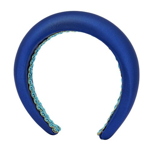 cerchietto bombato raso blu mias vintage