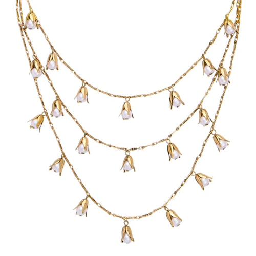collana campanelle di perla mias vintage