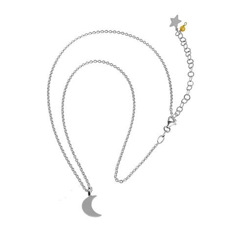 collana catena argento luna mias vintage