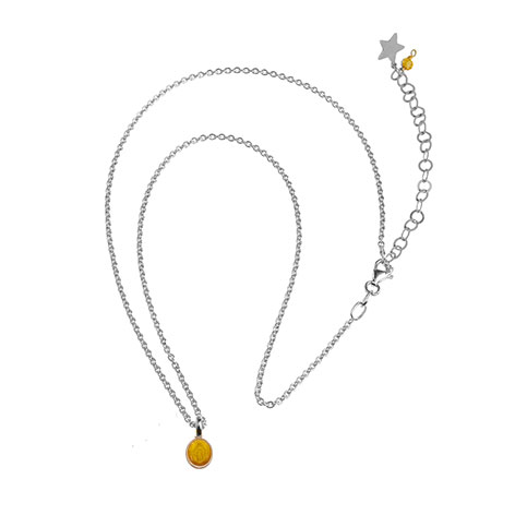 collana catena argento madonnina gialla mias vintage