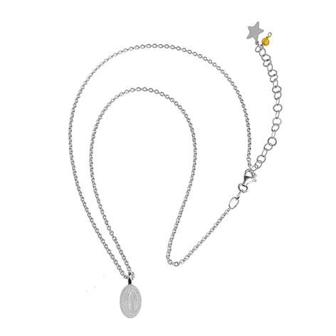 collana catena argento madonnina argento