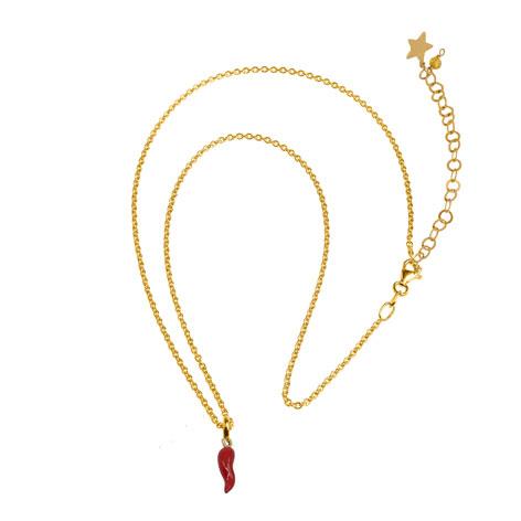 collana catena oro cornetto mias vintage