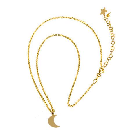 collana catena oro luna mias vintage