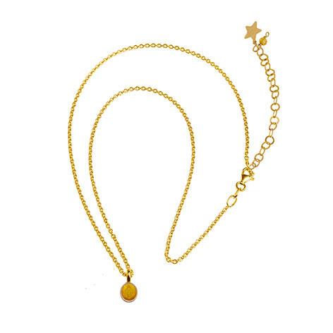 collana catena oro madonnina gialla