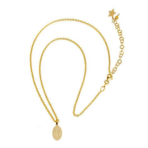 collana catena oro madonnina oro