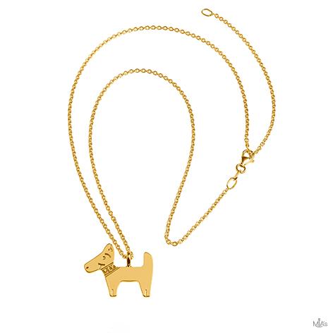 collana dog oro