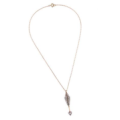 collana lunga freccia oro cristalli bianchi mias vintage