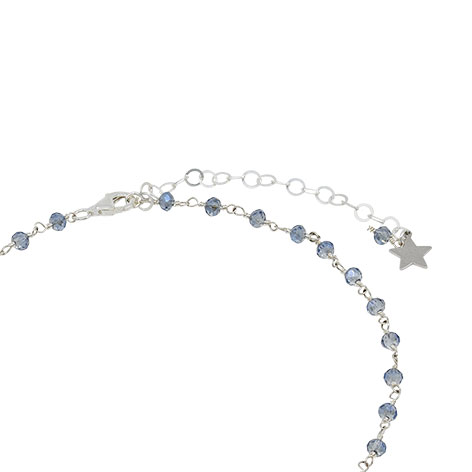 dettaglio chiusura rosario argento cristalli azzurri mias vintage