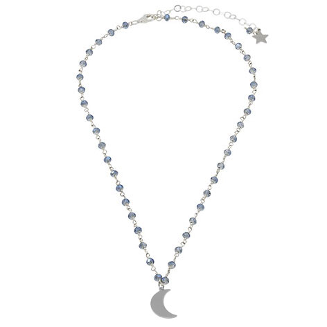 collana rosario argento cristalli azzurri mias vintage