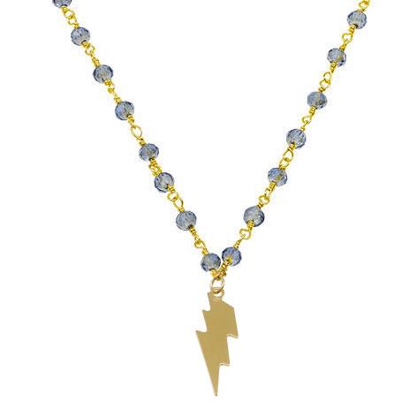 dettaglio rosario azzurro oro saetta