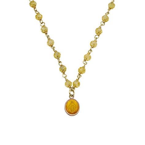 dettaglio rosario madonnina oro mias vintage