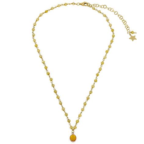 collana rosario oro cristalli gialli madonnina gialla mias vintage