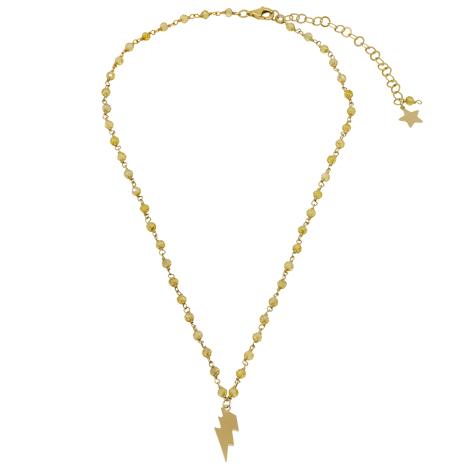collana rosario oro cristalli gialli mias vintage