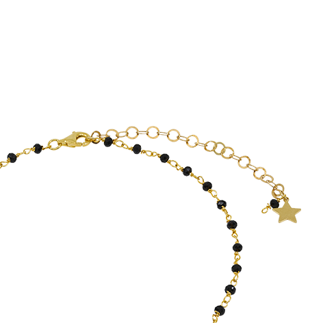 chiusura collana rosario oro cristalli neri mias vintage