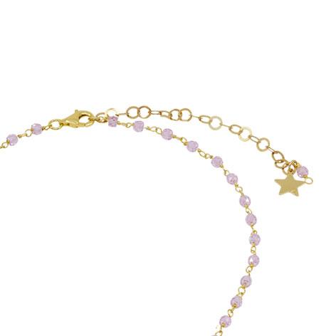 comprare bene vendita scontata sporco Collana rosario oro cristalli rosa Luna - MIA's Italy