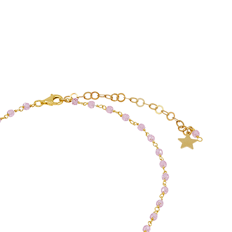 dettaglio chiusura rosario oro cristalli irosa mias vintage