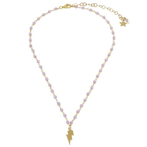 collana rosario oro cristalli rosa saetta mias vintage