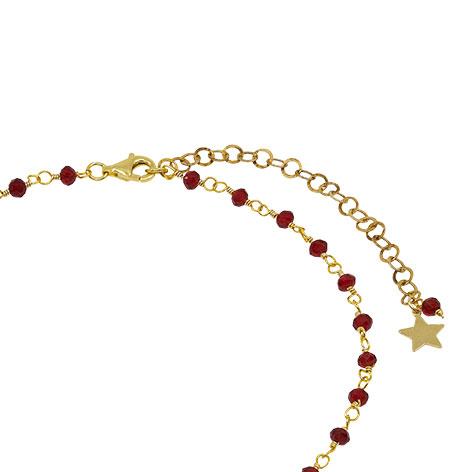 collana chiusura rosario oro cristalli rossi mias vintage