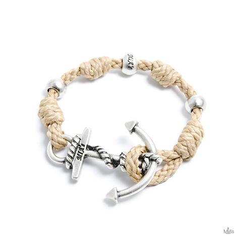 bracciale love boat beige ancora argento