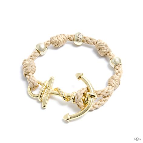 bracciale love boat corda ancora oro