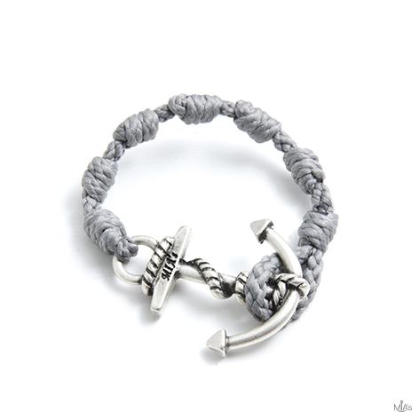 bracciale semplicemente grigio chiaro ancora argento