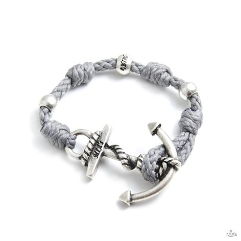 bracciale love boat grigio chiaro ancora argento
