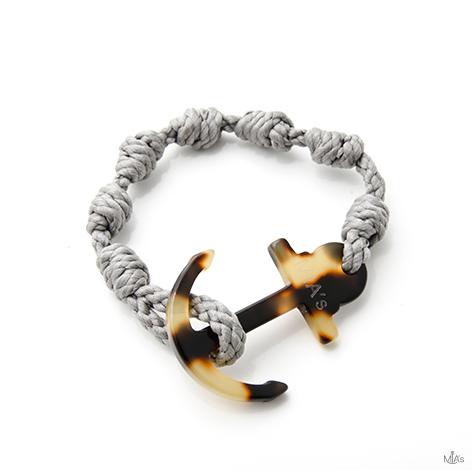 bracciale elegance grigio chiaro ancora tortuga