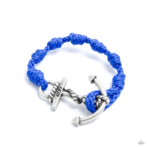 bracciale semplicemente blu elettrico ancora argento