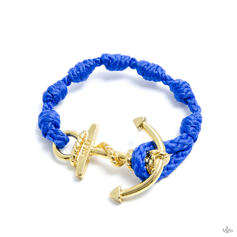 bracciale semplicemente blu elettrico ancora oro