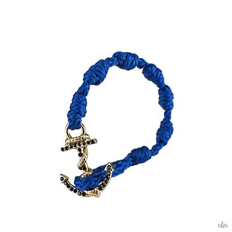 bracciale black diamonds blu elettrico ancora oro