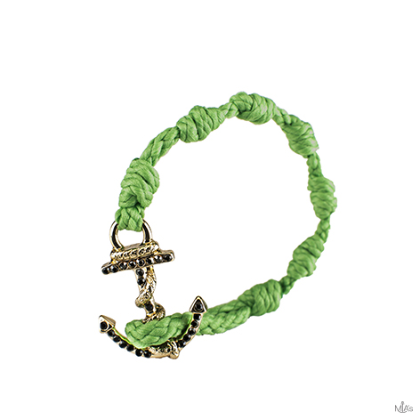 bracciale black diamonds verde ancora