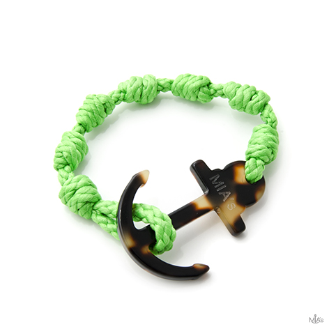 bracciale elegance verde ancora tortuga