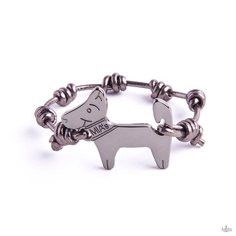 bracciale metal dog rutenio
