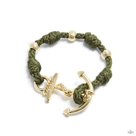 bracciale love boat military ancora oro