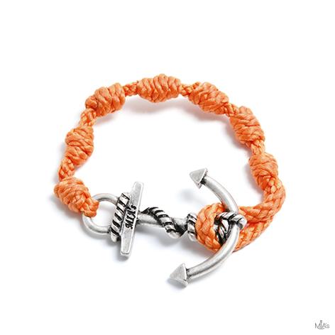 bracciale semplicemente arancione ancora argento