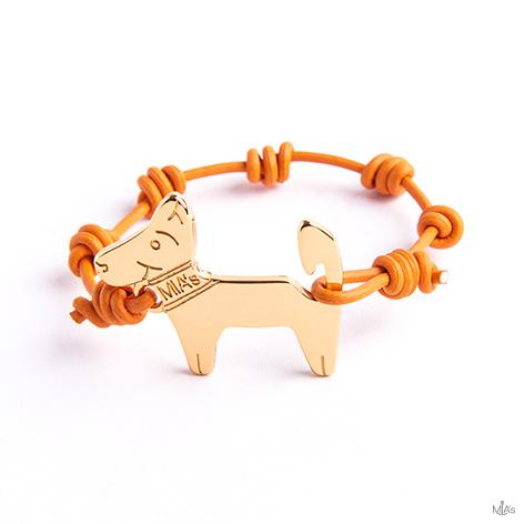 bracciale arancione dog oro