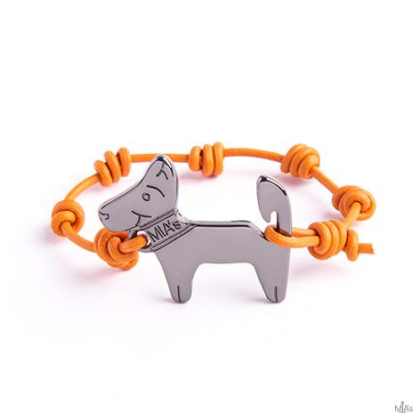bracciale arancione dog rutenio