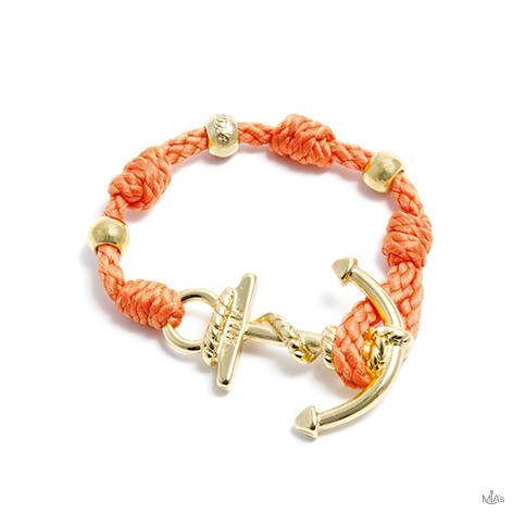 bracciale love boat ancora arancione ancora oro