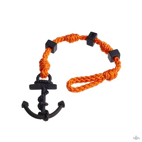bracciale square arancione ancora nera