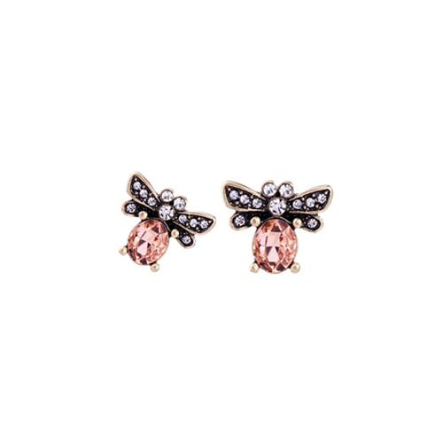 orecchini api rosa mias vintage