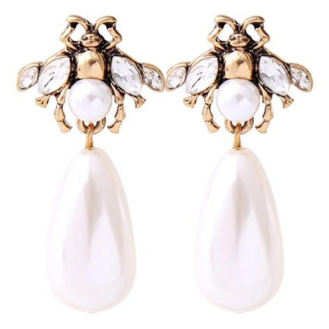 orecchini api bianche perla mias vintage zoom