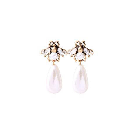 orecchini api bianche perla mias vintage