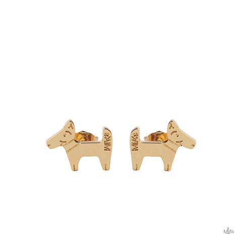 orecchini dog oro